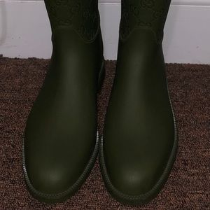 Gucci galoshes (rain boots) brand new